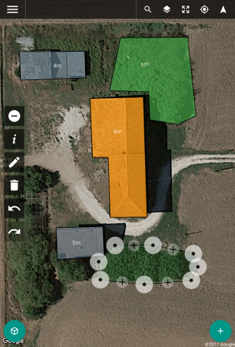 Drone Harmony Flight Planner: Drawing areas and obstacles.